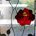 Leadlight rose